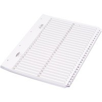 Concord Classic Index Mylar-reinforced Punched 4 Holes 1-50 A4 White Ref 05501/CS55