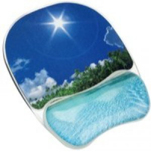 Fellowes Mouse Pad with Gel Wrist Rest Support Tropical Photo Ref 9202601