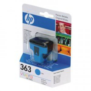 Hewlett Packard [HP] No. 363 Inkjet Cartridge Page Life 350pp 4ml Cyan Ref C8771EE