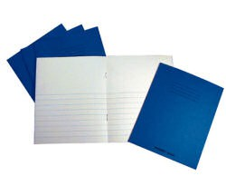 Project Book Top Blank/Bottom 12mm Ruled 32 Page 205x165 Blue Ref PW02526