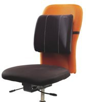 Fellowes Slimline Back Support Soft-touch Fabric with Adjustable Strap Black Ref 9190801