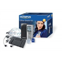 Image for Olympus DS2400 and AS2400 Starter Kit USB 1GB PC 32Hrs Recording Ref DS2400AS2400