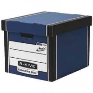 Fellowes R-Kive Premium 726 Archive Storage Box W330xD381xH298mm Blue and White Ref 7260602 [Pack 10]