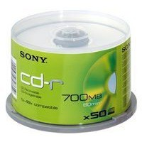 Sony CD-R 700Mb/80minutes Spindle Pack of 50 50CDQ80NSPD