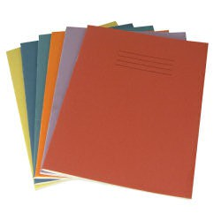 Exercise Book 8 mm Ruled and Margin 80 Page 230x180 Red Ref EX554135
