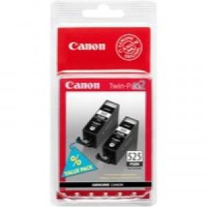Canon Inkjet Cartridge Page Life 656pp Black PGI-525 BK TwinPack Code 4529B006