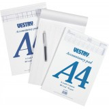 Vestry Accountants Pad 6 Cash Column 80 Leaf A4 Ref CV2085