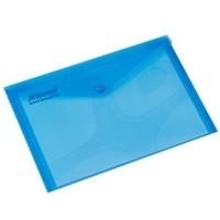 Rexel Popper Wallet A4 Blue 16129Bu Pk5