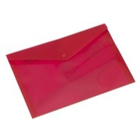Rexel Popper Wallet Polypropylene A4 Translucent Red Ref 16129Rd [Pack 5]