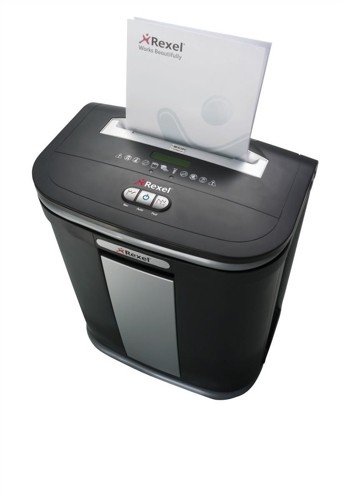 Rexel Mercury RSM1130 Shredder 1.9x15mm Micro Cross Cut 12x80gsm 9.6kg W525xD450xH650mm Ref 2102407