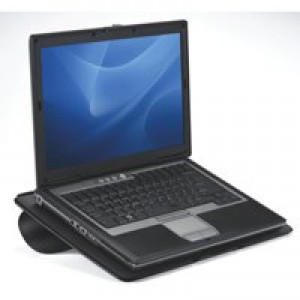 Fellowes Go Portable Laptop Riser Vented Up To 17 Inch Laptop Non-Slip Pads 8mm Thick Ref 8030402