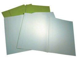 Exercise Book 8 mm Ruled and Margin 60 Page A4 Light Blue Ref VRE01027-5