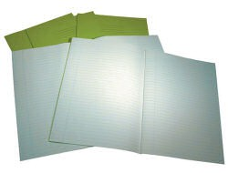 Exercise Book 8 mm Ruled and Margin 60 Page A4 Light Green Ref VRE010730-5