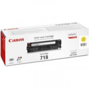 Canon CRG-718Y Laser Toner Cartridge Page Life 2900pp Yellow Ref 2659B002