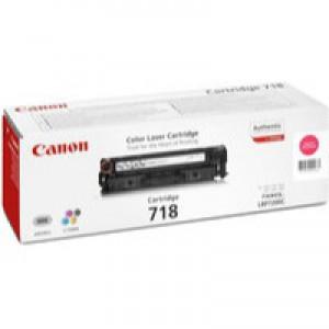 Canon CRG-718M Laser Toner Cartridge Page Life 2900pp Magenta Ref 2660B002