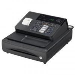 Casio Cash Register 7 Segment x 8 Digit 120 PLUs 20 Departments 2.4 lines/sec W330xD360xH203mm Ref 140CR