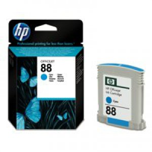 HP No.88 Inkjet Cartridge 9ml Cyan Code C9386AE