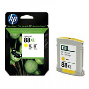 Hewlett Packard [HP] No. 88 Inkjet Cartridge Page Life 850pp 9ml Yellow Ref C9388AE