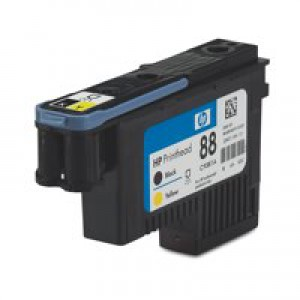 HP No.88 Officejet Printhead Black and Yellow Code C9381A