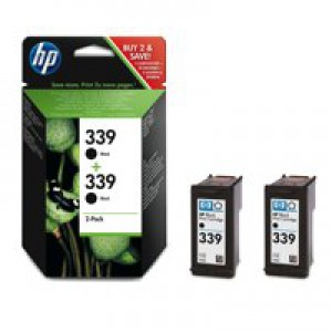 Hewlett Packard [HP] No. 339 Inkjet Cartridge Page Life 1600pp Black Ref C9504EE [Twin Pack]