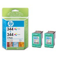 Hewlett Packard [HP] No. 344 Inkjet Cartridge Page Life 900pp Colour Ref C9505EE [Twin Pack]