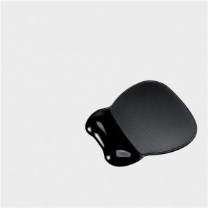 Mouse Mat Pad Wrist Rest Non Skid Easy Clean Soft Gel Black