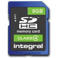 Integral SDHC Memory Card 8GB INSDH8G4V2