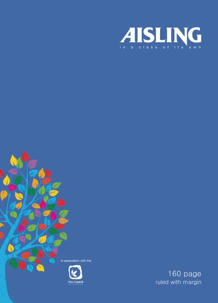 Rhino Casebound Book 8 mm Ruled 160 Page A5 Blue Ref RCBA5B