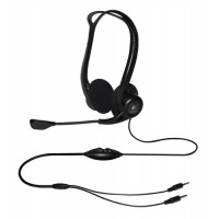 Image for Logitech PC860 Stereo Headset Adjustable Microphone Boom 3.5mm Audio Jack In-line Controls Ref 981-000094