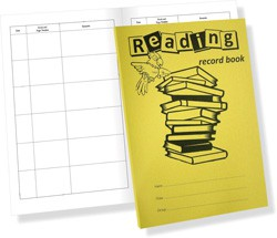 Reading Record Book 40 Page 200x148 Yellow Printed Ref SDRR5