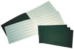 Musc Book 6 Stave 24 Page 150x235 Dark Green Ref MU0017