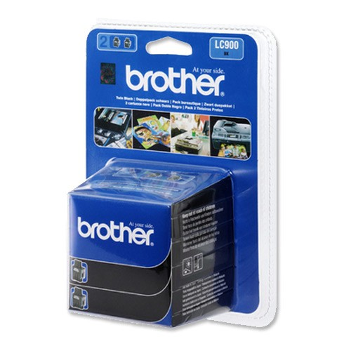 Brother Inkjet Cartridge Page Life 2000pp Black Ref LC900BKBP2 [Pack 2]
