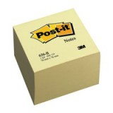 3M Post-it Notes Cube 3x3inch 450 Sheets Pastel Yellow Code 636B