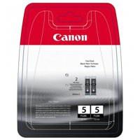 Canon PGI-5BK Inkjet Cartridge Page Life 1040pp Black Ref 0628B025 [Pack 2]