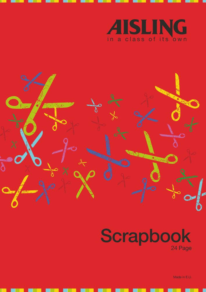 Scrap Book 24 Page 330x235 Assorted Ref SB3
