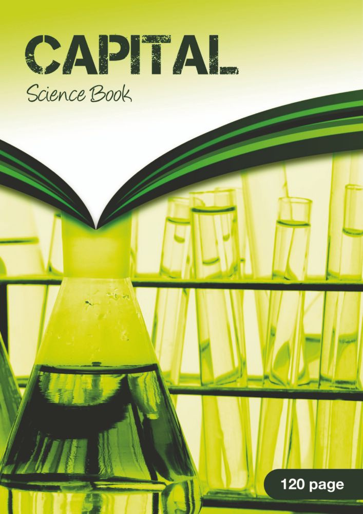Science Book 1:5:10 8 mm Ruled and Margin 64 Page A4 Buff Ref SDSC1BU