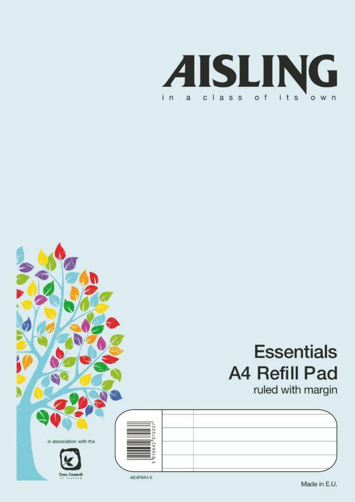 Varsity Refill Pad 8 mm Ruled and Margin Sidebound 80 Leaves A4 Ref V4FM