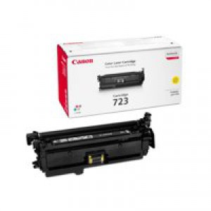 Canon 723Y Laser Toner Cartridge Page Life 8500pp Yellow Ref 2641B002