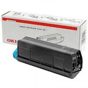 OKI Laser Toner Cartridge Page Life 2500pp Cyan Ref 43459371