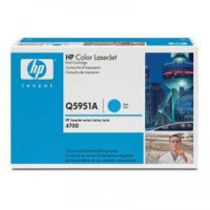 Hewlett Packard [HP] No. 643A Laser Toner Cartridge Page Life 10000pp Cyan Ref Q5951A