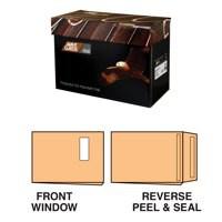 Avant Garde Gusset Pocket Peel & Seal Window (40x105mm) Cream Manilla C4 Pack 100