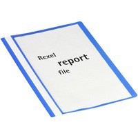 Rexel Report Flat File Lightweight Polypropylene with Indexing Strip A4 Blue Ref 12602BU [Pack 25]