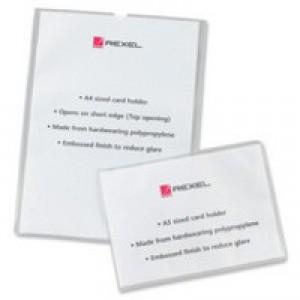 Rexel Card Holder Open On Short Edge A4 Polypropylene Code 12092
