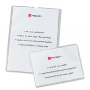 Rexel Nyrex Card Holder Open On Short Edge A5 Polypropylene Code 12093