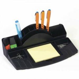 Avery Mainline Desk Tidy Multicompartment with Ruler Slot Black Ref 88MLBLK