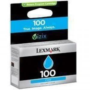 Lexmark No. 100 Inkjet Cartridge Return Program Page Life 200pp Cyan Ref 14N0900E