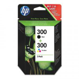 Hewlett Packard [HP] No. 300 Inkjet Cartridge Page Life 365pp Black/Colour Ref CN637EE [Pack 2]