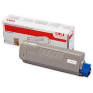 Oki C610 Toner Cartridge 6K Yellow 44315305