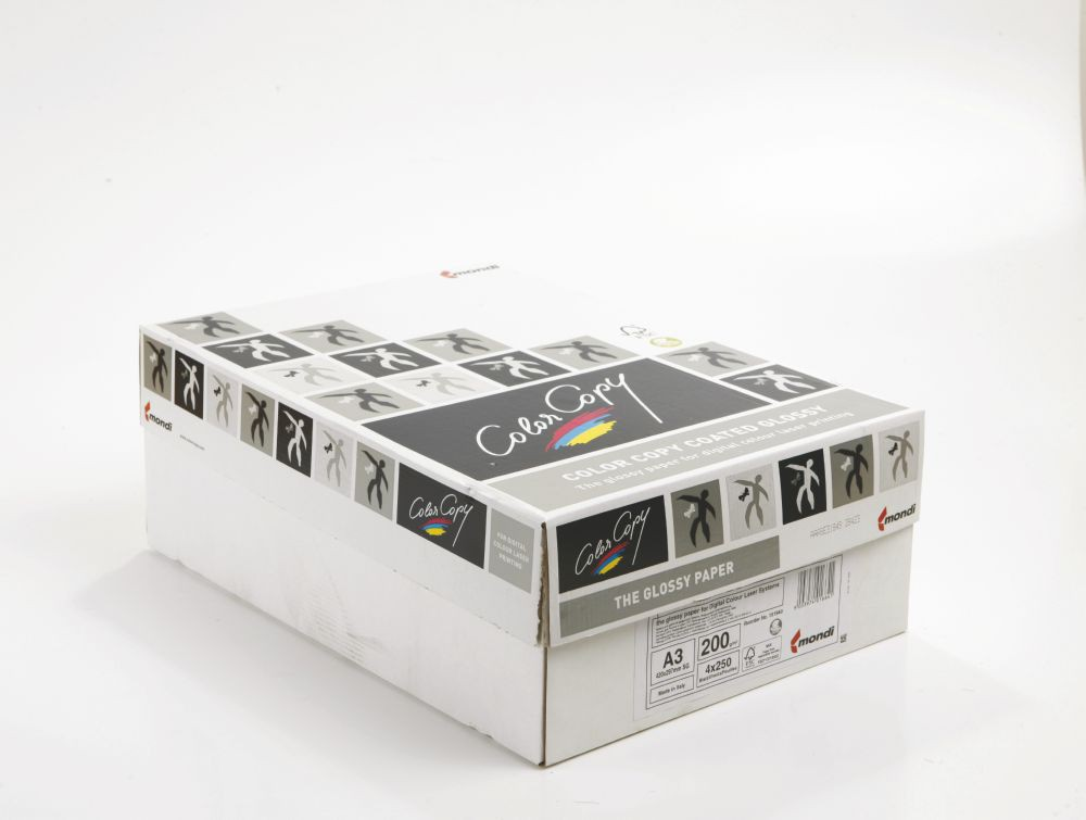 Color Copy Paper Coated Glossy White FSC4 A3 420x 297mm 200gm Pack 250