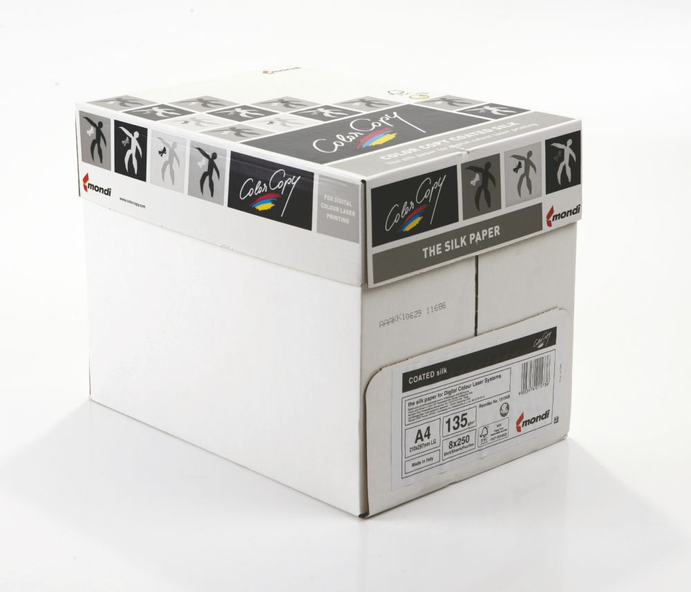 Color Copy Paper Coated Silk White A4 210x297mm  135gm Pack 250